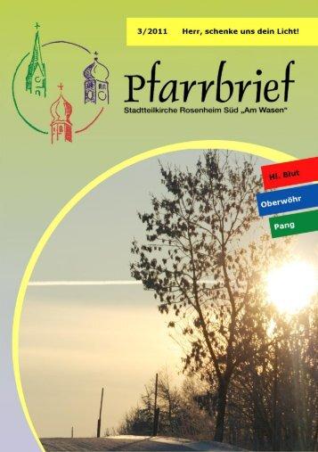 Pfarrbrief 3/2011 - Pfarrei Heilig Blut
