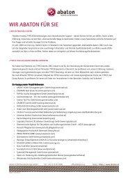 Datenblatt abaton 1.2 - Abaton EDV-Dienstleistungs GmbH