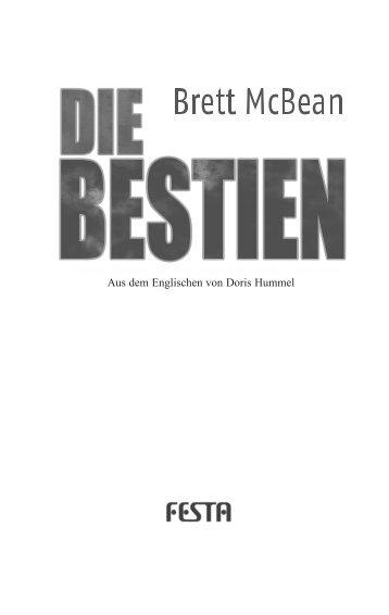 Leseprobe: Die Bestien - Festa Verlag