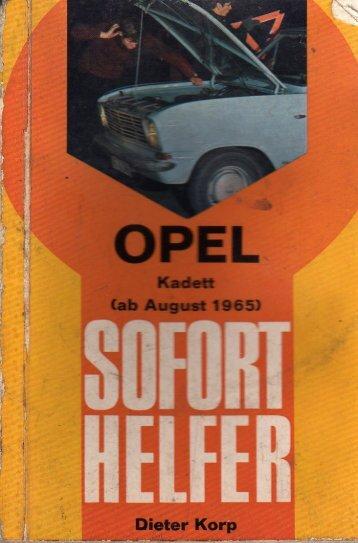Sofort Helfer für OPEL Kadett