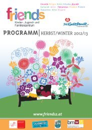 PROGRAMM|HERBST/WINTER 2012/13 - bei friends