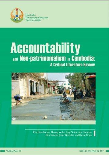 Accountability and Neo-patrimonialism in Cambodia: A ... - CDRI