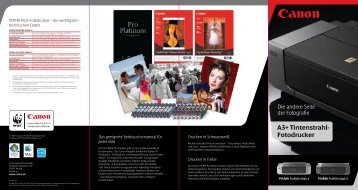 A3+ Tintenstrahl- Fotodrucker - Brochures - Canon Europe