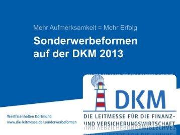 Sonderwerbeformen auf der DKM 2013