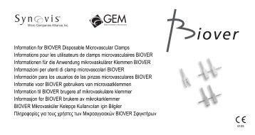 Information for BIOVER Disposable Microvascular Clamps ...