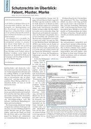 Schutzrechte im Überblick: Patent, Muster, Marke
