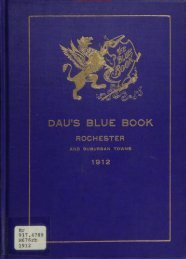 Dau's Blue Book 1912 - Monroe County Library System