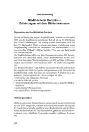 Stadtbücherei Dornbirn – Erfahrungen mit dem Bibliotheksraum