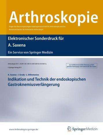 Arthroskopie - Ankle & Foot Care Centers