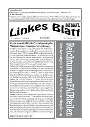 Ausgabe Nr. 17 vom 02. Oktober 2012 - DIE LINKE. Halle /Saale