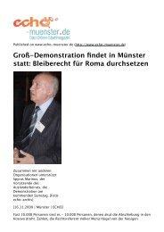Groß-Demonstration findet in Münster statt: Bleiberecht ... - Aktion 302