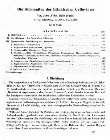 Die Ammoniten des fränkischen Caltoviums