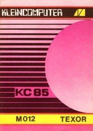 Handbuch des M012 - als PDF download - KC-Club