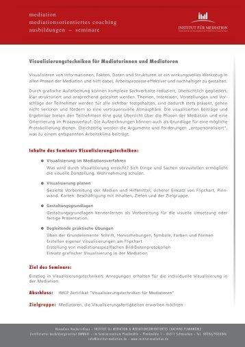 Visualisierungstechniken für Mediatorinnen und Mediatoren
