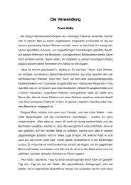 F.Kafka Die Verwandlung