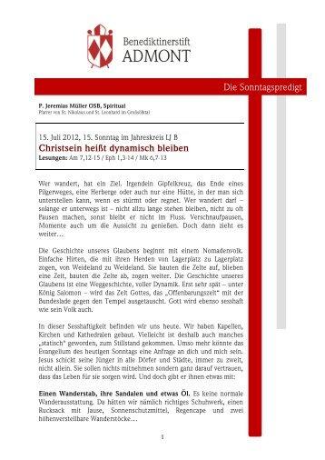15. Sonntag i.JK (15.07.2012) - Martyria.de