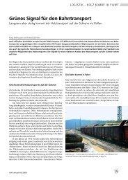 19 Grünes Signal für den Bahntransport - Bayerische Landesanstalt ...