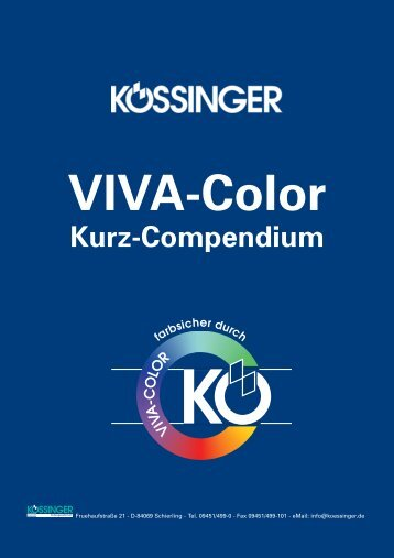 VIVA-Color Kurz-Compendium - Kössinger AG