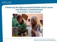 Workshop 7 Individualisierung mit Schülerfirmen - Bildungsserver ...