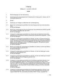Mittwoch, 7. Juli 2010, 9:00 Uhr - Land Salzburg