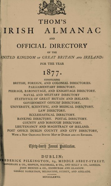 fIRISH ALMANAC - South Dublin Libraries' Digital Archive