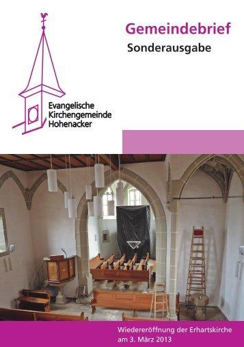 Gemeindebrief - Evangelische Kirchengemeinde Hohenacker