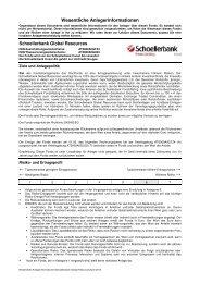 Wesentliche Anlegerinformationen (KID) - Schoellerbank AG