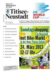 Amtsblatt Nr. 06 vom 21.03.2013 - Titisee-Neustadt