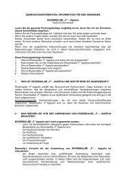 """INFORMATION FÜR DEN ANWENDER EKZEMSALBE """"F"""" – Agepha ..."""