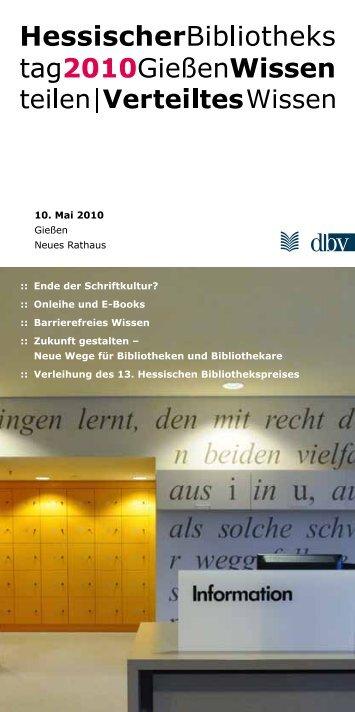 Hessischer Bibliothekstag - Deutscher Bibliotheksverband e.V.