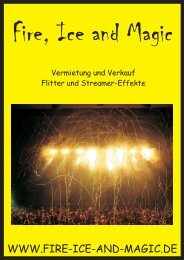 Verkaufsunterlagen Flitter, S... - Fire, Ice and Magic