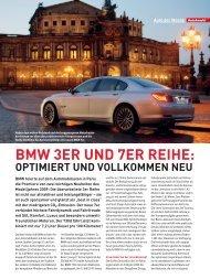 BMW 3ER UND 7ER REIHE: - Redaktion Seiler