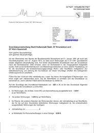 Anschreiben Grundsteueranmeldung Stadt Halberstadt, OT Klein ...