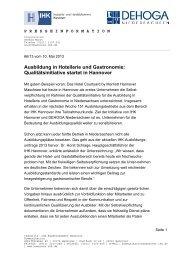 Pressemitteilung der IHK Hannover vom 10.05.2013 - DEHOGA ...