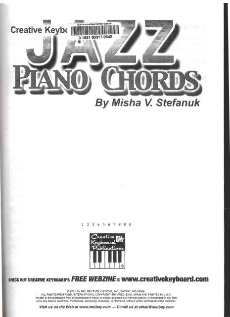 Jazz piano chords pdf