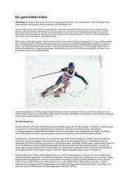 Ein ganz heißes Eisen - Skiverband Oberfranken