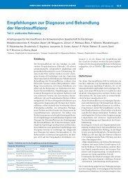 Empfehlungen stationär - Arbeitsgruppe Herzinsuffizienz