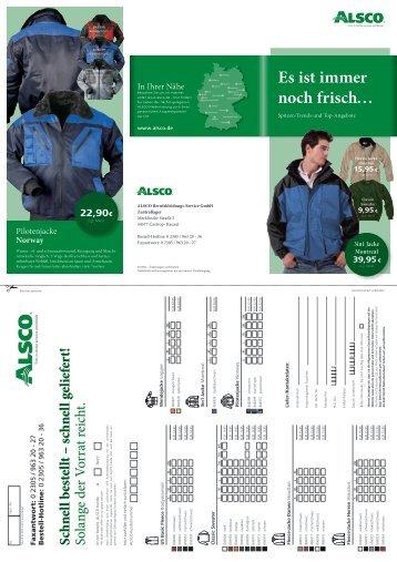 Der aktuelle März-Flyer 2012 - ALSCO Berufskleidungs-Service GmbH