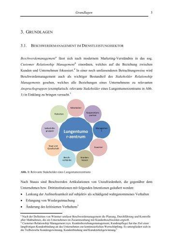 Grundlagen Beschwerdemanagement - Handbuch Lungenkrebs