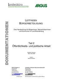 Leitfaden Bürgerbeteiligung Teil 2 - ARGUS Potsdam eV
