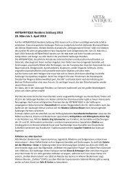 ART&ANTIQUE Residenz Salzburg 2013 23. März ... - MAC-Hoffmann