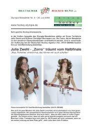 Julia Zwehl - Deutscher Hockey Bund e.V.