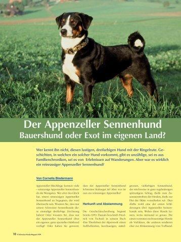 Der Appenzeller Sennenhund - Schweizer Hunde Magazin