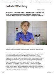 Schweizer Filmtage: Mehr Haltung als Unterhaltung - Halb so wild