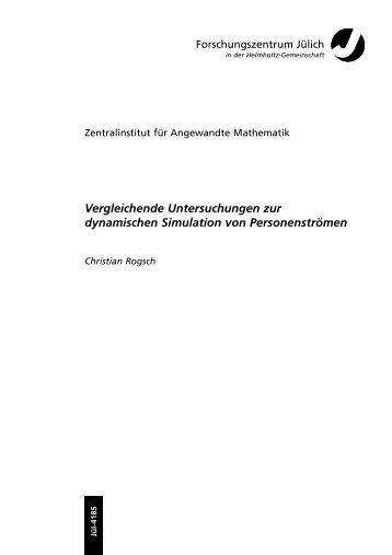 Vergleichende Untersuchungen zur dynamischen Simulation von ...