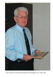 Laudatio für Peter P. Klassen