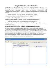 Programmablauf - eine Übersicht