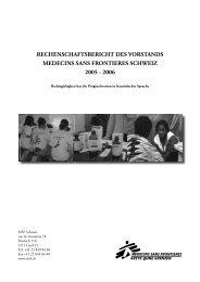 Rechenschaftsbericht 2005-2006 (pdf, 658 KB) - Médecins Sans ...