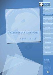 Objektbeschilderung - Adler Glastech