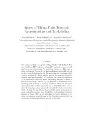 Spaces of Tilings, Finite Telescopic Approximations and Gap-Labeling